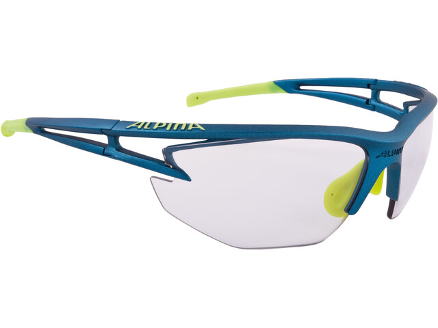 Alpina Eye-5 HR VL+ Glasses blue matt-neonyellow